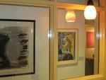 Cook Library Art Gallery, Starbucks Window (Bongé, Picasso)