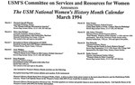 1994 WHM Calendar of Events by CSRW