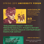 """Jennifer Stollman: """"Endangering Equality Through Perceived Equity"""""""