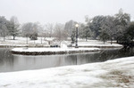 Lake Byron in the Snow, Hattiesburg Campus by Steve Coleman