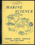 Journal of Marine Science, Vol. 1, No. 3 by Marine Science Institute