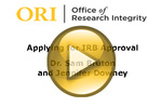 Applying for IRB Approval