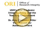 USM's New Academic Integrity Policy and the Teaching Environment